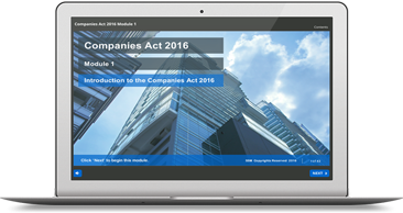 New Companies Act 2016 e-learning