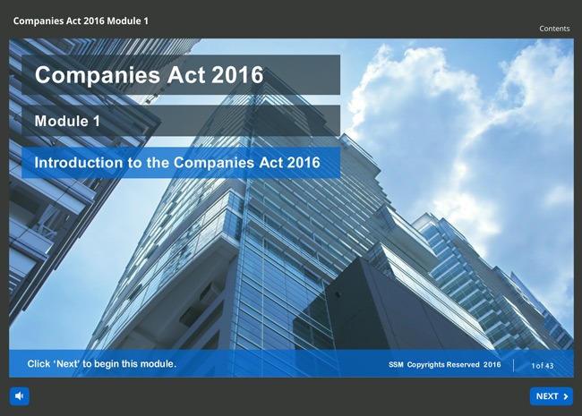 New Companies Act 2016 Screenshot 1