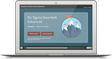 Six Sigma Green Belt Advanced (level 1 & 2) e-learning