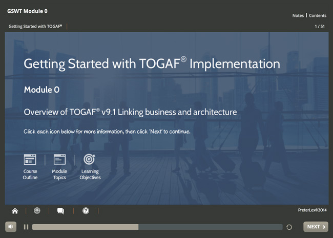 Implementation: TOGAF® Screenshot 1