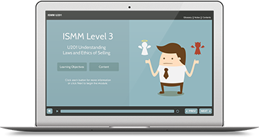 ISMM Level 3 U201 - Understanding Ethics & Laws of Selling e-learning