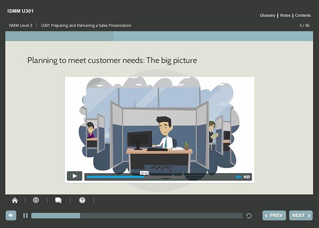 ISMM Level 3 U301 - Preparing & Delivering a Sales Presentation Screenshot 6