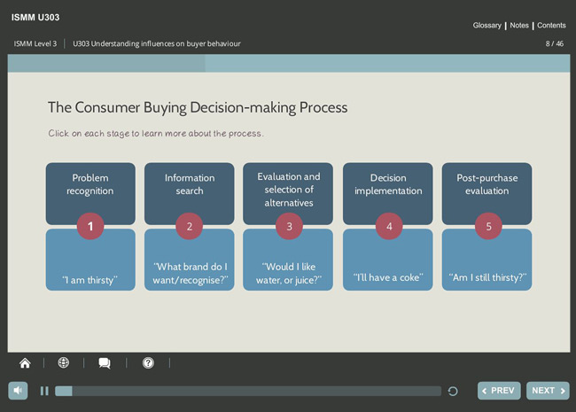 ISMM Level 3 U303 - Understanding Influences on Buyer Behavior Screenshot 3