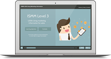ISMM Level 3 U306 - Using Marketing Information for Sales e-learning