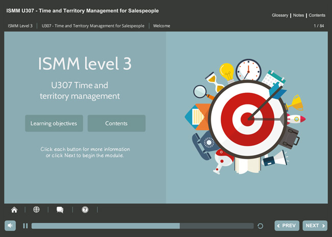 ISMM Level 3 U307 - Time & Territory Management Screenshot 6