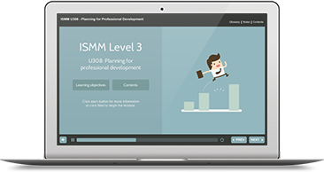ISMM Level 3 U308 - Planning for Professional Development e-learning