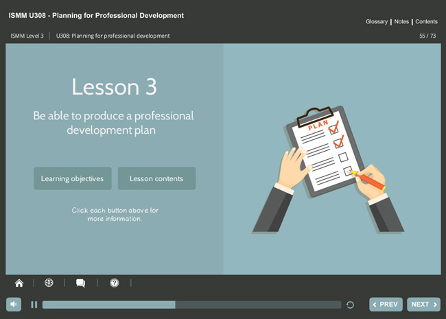 ISMM Level 3 U308 - Planning for Professional Development Screenshot 2
