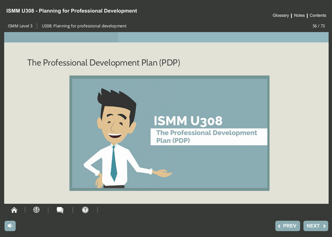 ISMM Level 3 U308 - Planning for Professional Development Screenshot 3