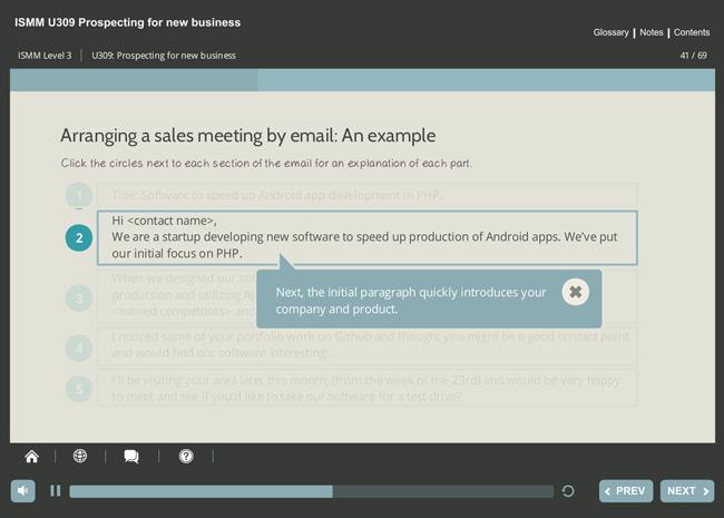 ISMM Level 3 U309 - Prospecting for New Business Screenshot 6