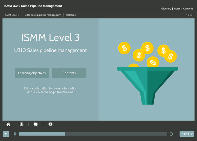 ISMM Level 3 U310 - Sales Pipeline Management Screenshot 6