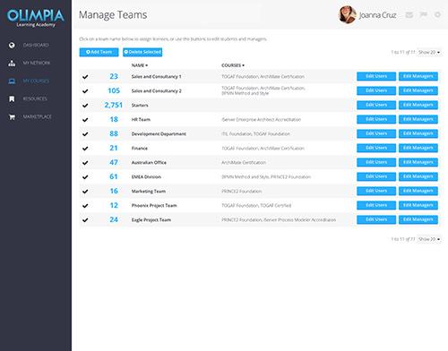 Manage Teams Example