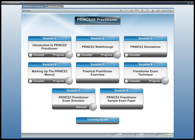 PRINCE2® Practitioner (level 2) Screenshot 1