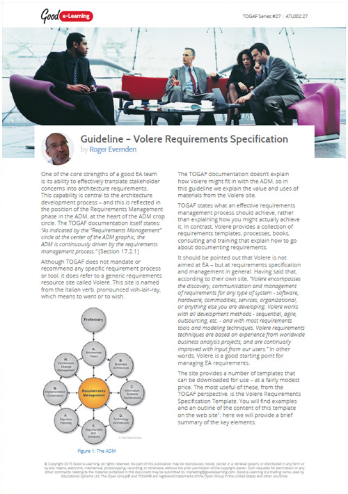 Volere Requirements Specification