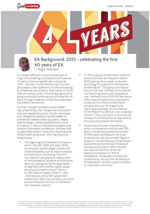 A Background to EA - Celebrating the First 40 Years of EA