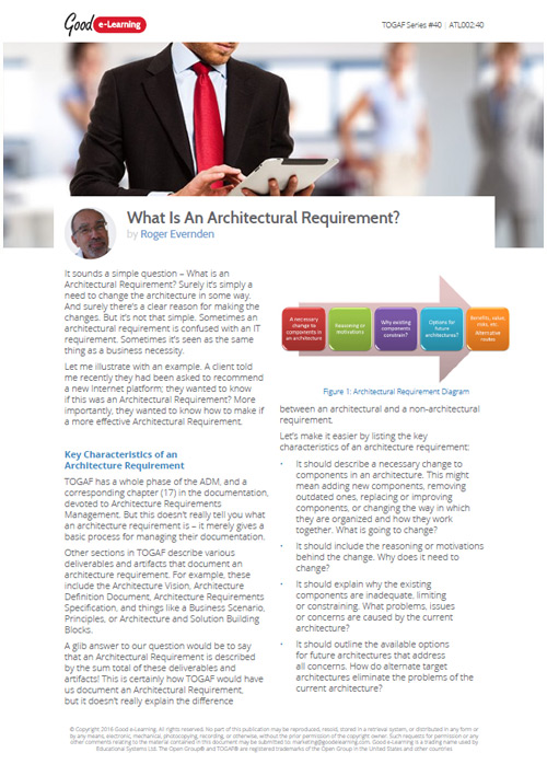 What Is An Architectural Requirement?