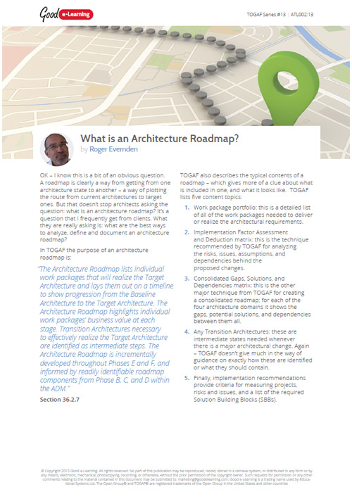 What is an Architecture Roadmap? image