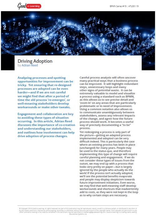 BPMN: Driving Adoption