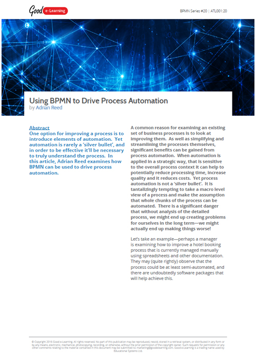 Using BPMN to Drive Process Automation image