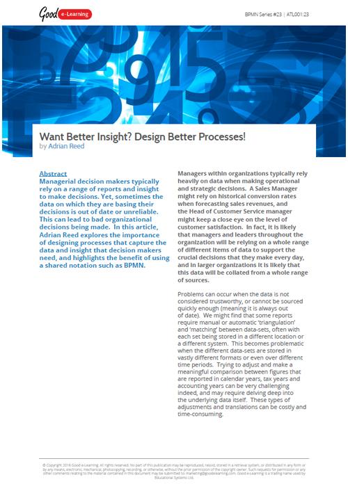 BPMN: Want Better Insights? Design Better Processes!