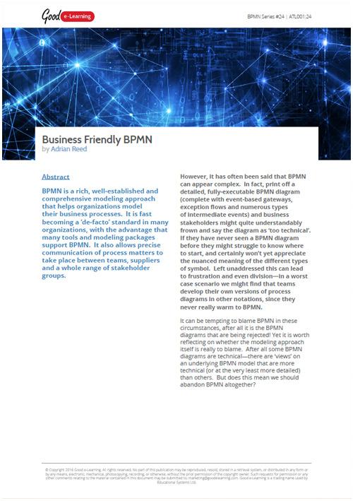 Business Friendly BPMN