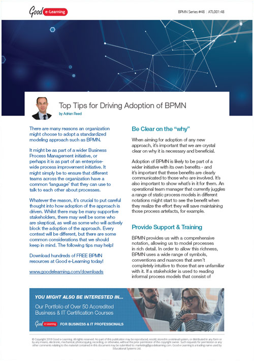 Top Tips for Driving Adoption of BPMN