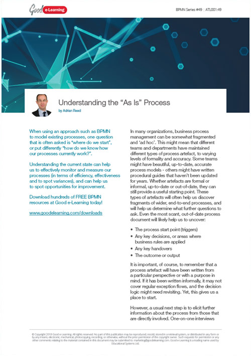 Understanding the 'As Is' Process in BPMN
