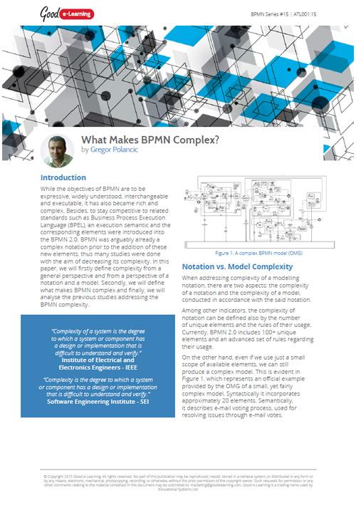 What Makes BPMN Complex?
