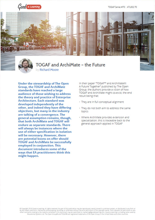 The Future of TOGAF and ArchiMate