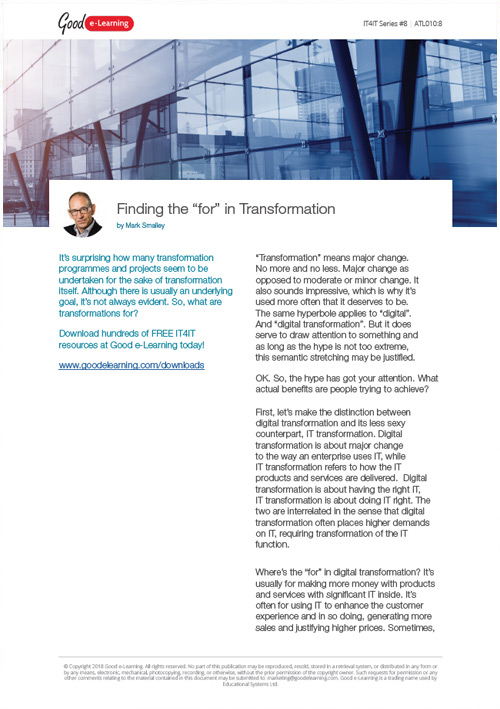 Digital Transformation: What Is It for and Why Choose IT4IT?