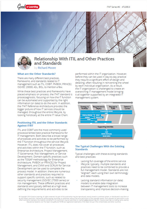 How Does IT4IT Relate to Standards Like ITIL?