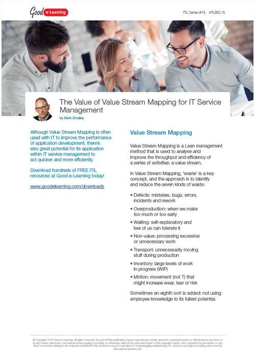 The Value of Value Stream Mapping for IT Service Management image