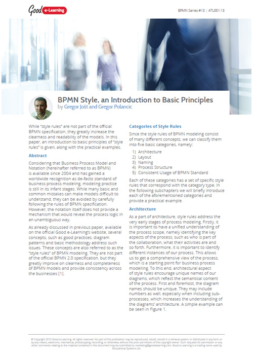 BPMN Style: An Introduction to Basic Principles
