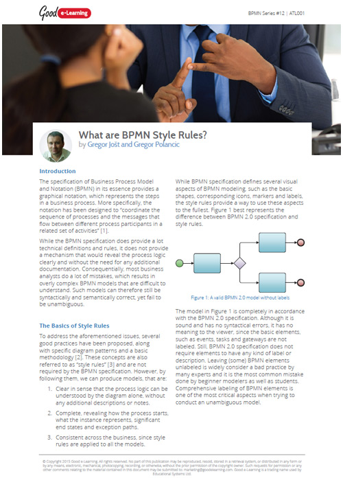 What are BPMN Style Rules image