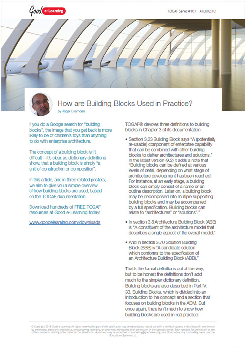 How are TOGAF Building Blocks Used in Practice