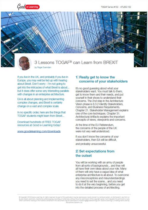 What Can Brexit Teach Us About Enterprise Architecture?