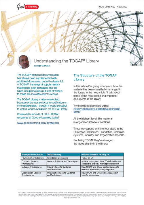 What Do You Need to Know About the TOGAF Library? image