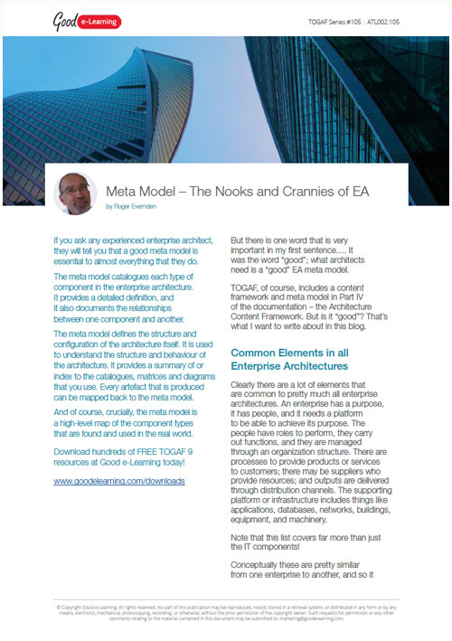 Meta Model - The Nooks and Crannies of EA image