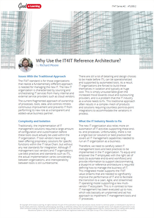 Why Use The IT4IT Reference Architecture? image