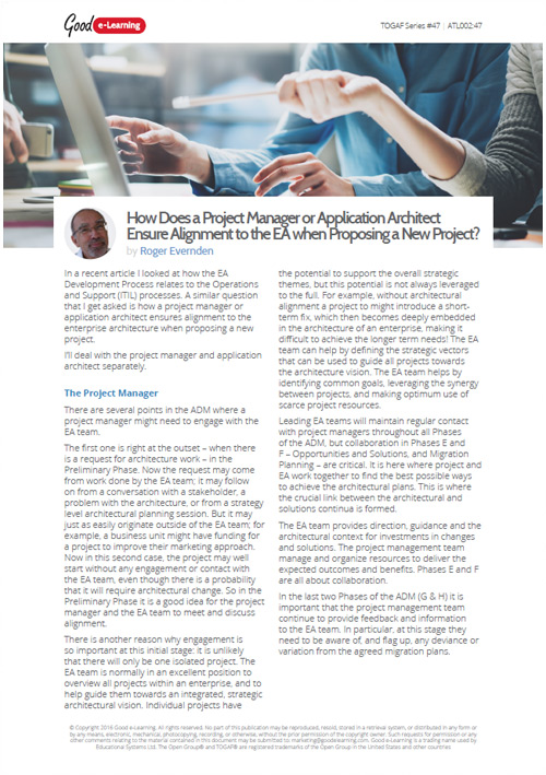 How Does a Project Manager or Application Architect Ensure Alignment?