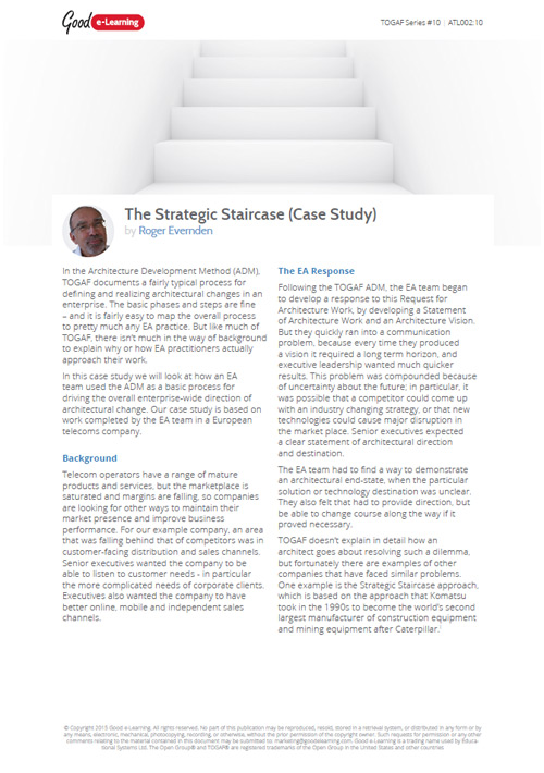 The Strategic Staircase - Case Study image