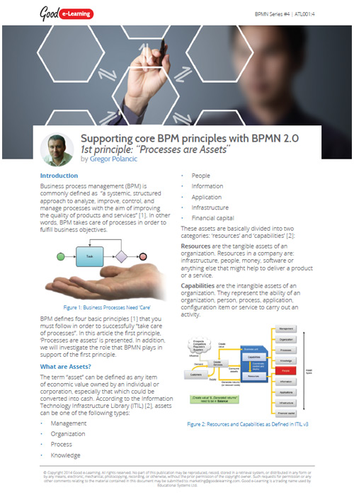 Supporting core BPM principles with BPMN 2.0