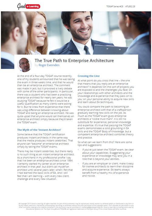 The True Path to Enterprise Architecture image