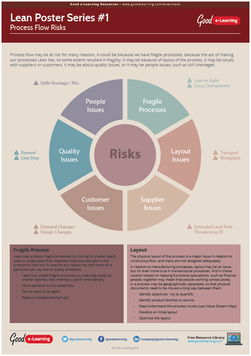 Learning Lean Poster 1 - Process Flow Risks image