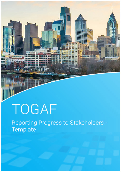 Reporting Progress to Stakeholders - Template image