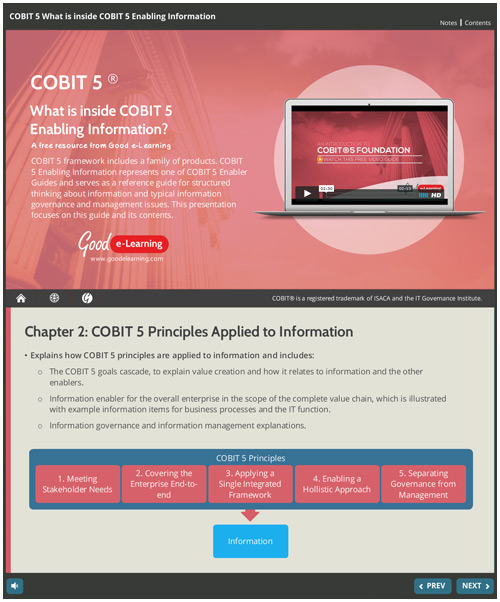What is Inside COBIT5 Enabling Information?