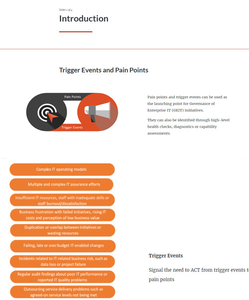 COBIT 5 Pain Points and Trigger Events