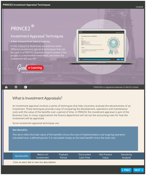 PRINCE2 Investment Appraisal Techniques image
