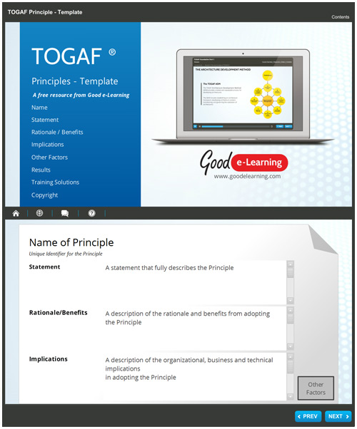 TOGAF Principles Template