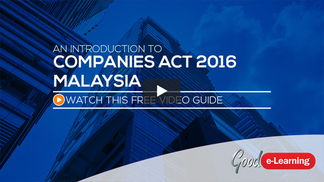 New Companies Act 2016 Video