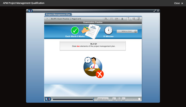 APM Project Management Qualification (PMQ) Screenshot 1